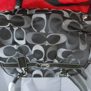 Coach babybag black/gray NWT